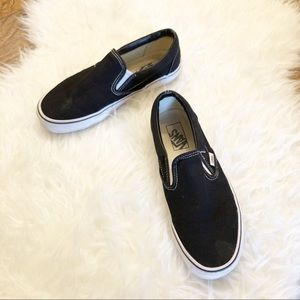 Vans | Classic Black and White Slip On Sneakers